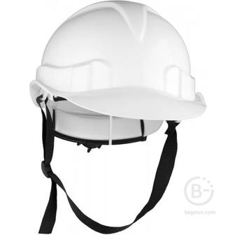 Каска строительная защитная с механизмом белая