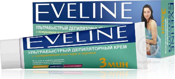 Eveline - Крем депиляторный ультрабыстрый 3 мин с Алое и персиком 100мл