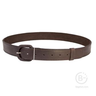 Ремень брючный кожаный с обтянутой пряжкой HS-Р-7 №2 коричневый Helios HS-Р-7№2
