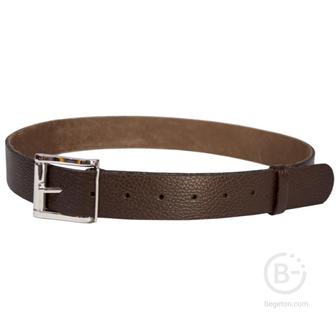 Ремень брючный кожаный HS-Р-7/1 №2 коричневый Helios HS-Р-7/1№2