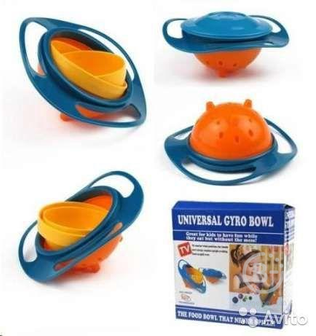 Тарелка непроливайка-неваляшка gyro bowl гиро боул