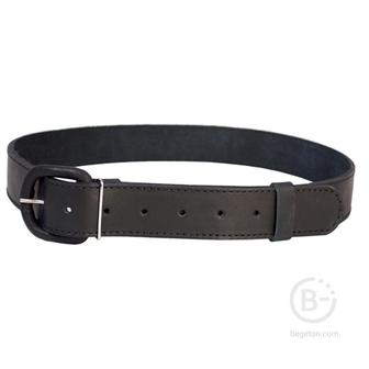 Ремень брючный кожаный с обтянутой пряжкой HS-Р-7 №4 черный Helios HS-Р-7№4-1