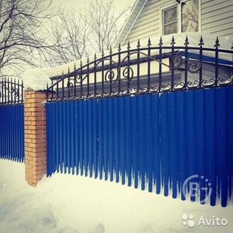 Забор из профнастила с доставкой