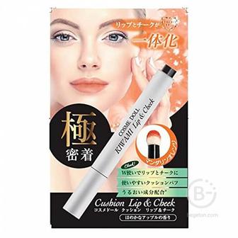 LSC Cosme Doll Помада-кушон для губ и щек оранжевый карандаш