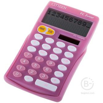 Калькулятор настольный Citizen FC-100NPK, 10 разр., двойное питание, 76*128*17мм, розовый Калькулятор настольный Citizen FC-100NPK, 10 разр., двойное питание, 76*128*17мм, розовый