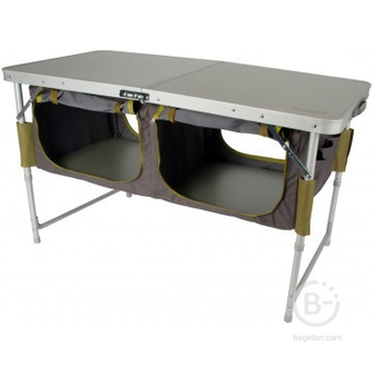 Столы походные Складной стол туристический с отделом под посуду Helios HS-TA-519 (алюминий)