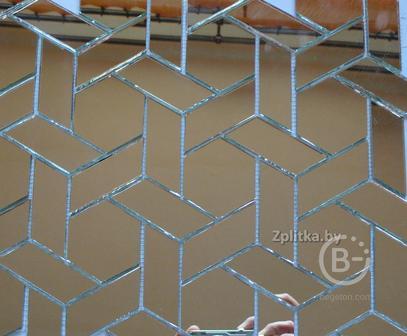 Мозаика зеркальная плетенка