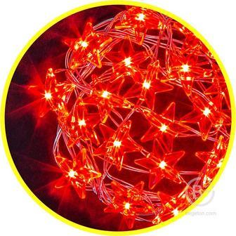 Гирлянда 14 051 NGF-DM003-20R-2AA-красные звездочки Navigator 14051