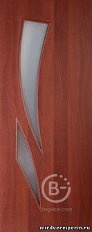 Дверное полотно остекленное Камея мат/фьюз. Итальянский Орех 900х2000