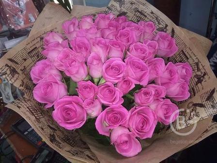 Букет из 51й розы 35 см