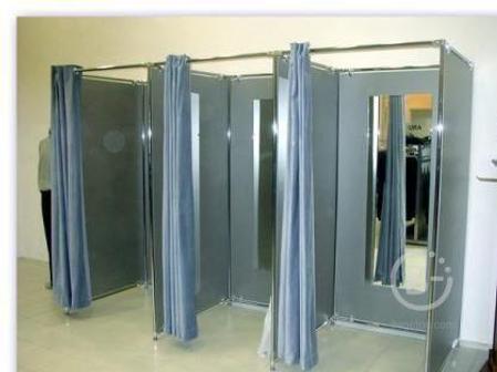 Зеркало для примерочных,1200х500мм, 4мм, шлифовка