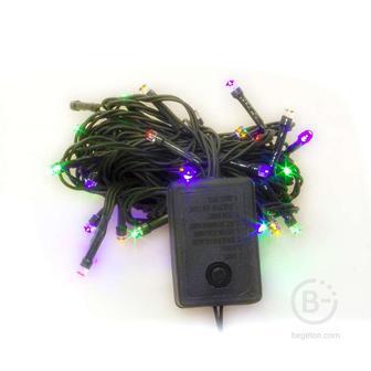 Гирлянда LD100C-GM 100 светодиод. LED 8 реж. 10м разноцв. SHLights 4607144116770