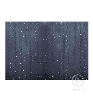 """Гирлянда Дождь """"ПЛЕЙ-ЛАЙТ"""" 2х3м 448LED 27Вт 220В IP44 бел. прозр. провод NEON-NIGHT 235-155-6"""