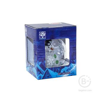 "Фигура светодиодная ""Стекляный шар"" GM3985 1LED RGB 6х6х7.5см (на бат. 3ХLR44) зол. SHlights 4690601041920"
