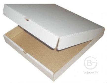 Коробка под пиццу 400*400*40 Белая/Крафт 50шт.