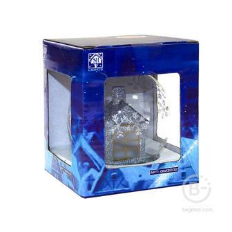 "Фигура светодиодная ""Стекляный домик"" GM3032 1LED RGB 8х8х9.5см (на бат. 3ХLR44) зол. SHlights 4690601041937"