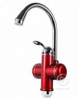 Кран мгновенного нагрева воды Акватерм. КА-001 R, цвет красный , 3000Вт.
