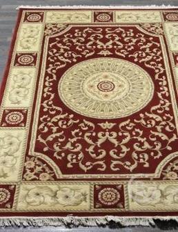 Ковер Woolen Machine-made carpets ZY2339MA - RED размер 1.50x2.30