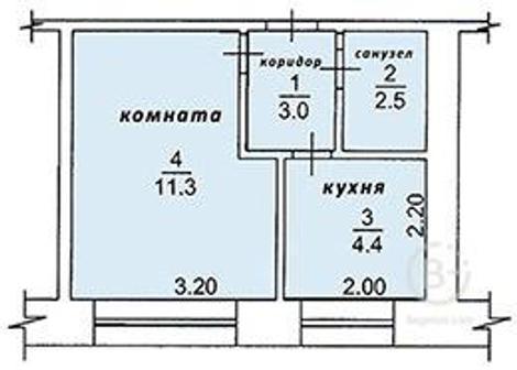 Квартира 1-к