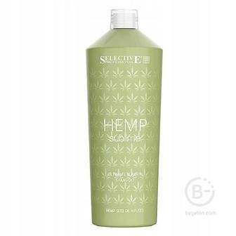 Шампуни SELECTIVE HEMP Sublime Шампунь увлажняющий для сухих/поврежденных волос с маслом семян конопли, 1000мл