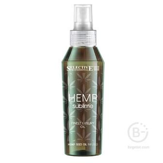 Лосьоны/спреи SELECTIVE HEMP Sublime Эликсир восстанавливающий  с маслом конопли для всех типов волос, 100мл