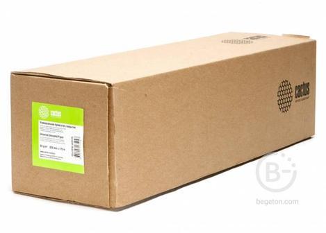"""Бумага Cactus CS-LFP80-620175 A1+ 620мм-175м, 80г/м2, белый инженерная бумага втулка:76.2мм (3"""")"""