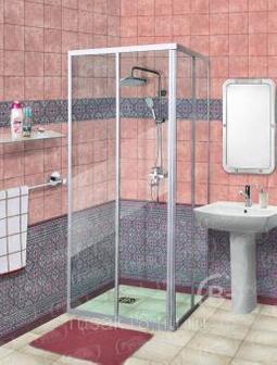 Душевой уголок 80-2 стенки стекло закаленное СТ 80-2