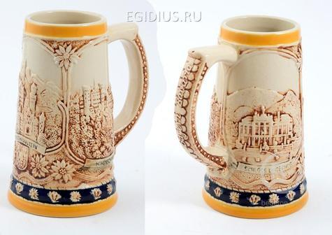 Пивная кружка коллекционная Горные замки 18см, 750мл  111-217