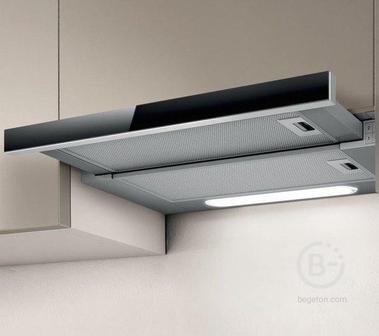 Встраиваемые вытяжки ELICA - Встраиваемые вытяжки ELICA/ Встраиваемая, 60 см, кнопочное управление, 650 куб. м. , серая+черное стекло