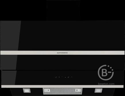 Вытяжка Kuppersberg - Настенная вытяжка, ширина 90 см, отвод/рециркуляция, 650 м3/час, электронное управление, 3 скорости, галогеновое освещение 2х20 Вт, анодированные алюминиевые жироулавливающие фильтры, таймер,  угольный фильтр С6С (опция), 42 дБ, цвет