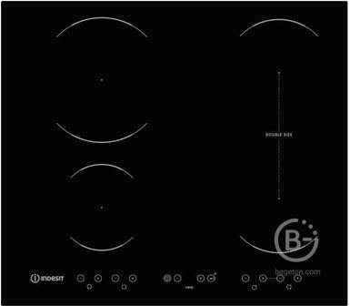 Индукционная варочная панель INDESIT - Индукционная варочная панель INDESIT/ Индукционная,  Независимая индукционная варочная панель с сенсорным управлением; 60 см; 4 индукционные зоны с функцией Booster; Flexi Zone - возможность объединения двух зон; 4 т