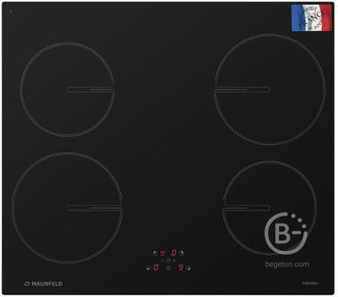 Электрическая панель MAUNFELD MVSI59.4HZ-BK черная - Электрическая панель MAUNFELD MVSI59.4HZ-BK черная/ Индукционная, 60см, сенсорное управление , автоотключение, индикация нагрева, черная,  Франция