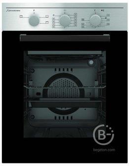 Встраиваемые электрические духовки Schaub Lorenz - 59.5х45x61 см, 45л, 4 режима работы, механические переключатели, механический таймер, панель управления-нержавеющая сталь, черное стекло дверцы духовки