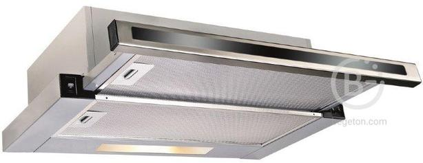 Встраиваемые вытяжки Korting - Встраиваемые вытяжки Korting/ Встраиваемая с выдвижным экраном, ширина 60 см, 2 режима, клавишное управление, 600 м3/ч., алюминиевые жировые фильтры,LED освещение, панель - нерж сталь+черное стекло