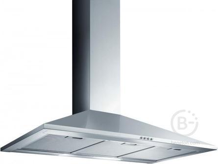 Вытяжки JET AIR - Вытяжки JET AIR/ Купольная, 90 см, 650 куб.м., кнопочное управление, нержавеющая сталь