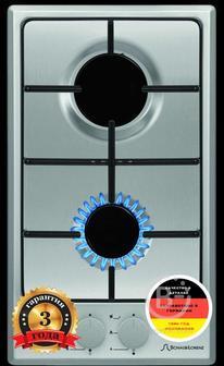 Домино Schaub Lorenz - Домино,  Газовая, 30 см, автоподжиг, жиклёры для баллонного газа, нержавеющая сталь