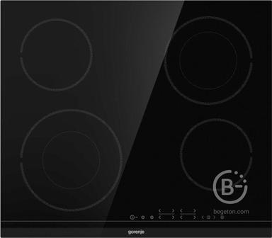 Встраиваемая варочная панель GORENJE - Встраиваемая варочная панель GORENJE/ Электрическая,  Стеклокерамическая варочная панель, Цвет: Черный, Стеклокерамическая варочная панель, Шлифованный передний край, Сенсорное управление, Таймер, Защитная блокировка