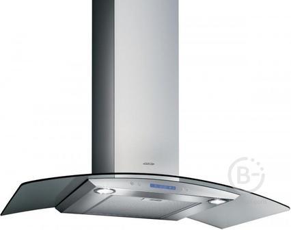 Вытяжки JET AIR - Вытяжки JET AIR/ Декоративный дизайн, гнутое стекло, 90 см, электронное управление, 1200 куб. м. , нержавеющая сталь