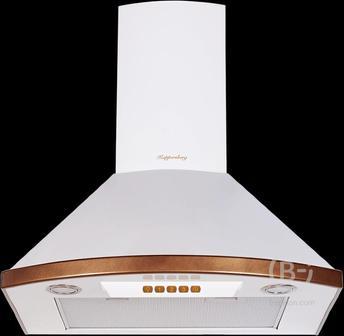 Вытяжка Kuppersberg - Настенная вытяжка, ширина 60 см, отвод/рециркуляция, 650 м3/час, электронное управление, 3 скорости, галогеновое освещение 2х20 Вт, анодированные алюминиевые жироулавливающие фильтры, угольный фильтр С6С (опция), 42 дБ, цвет белый, о