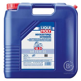 Трансмиссионное масло Liqui Moly Hochleistungs-Getriebeoil 75W-80 20 л