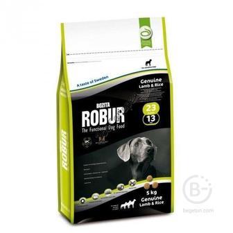 Корм Bozita Robur Genuine Lamb &Rice подходит для взрослых собак с обычным уровнем активности. 5кг.