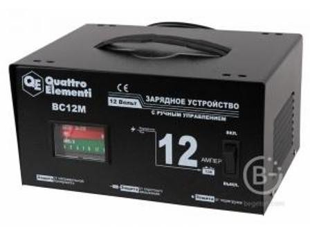 Зарядное устройство QUATTRO ELEMENTI BC 12M BC 12M