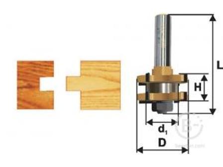 Фреза Энкор комбинированная пазо-шиповая (41х19 мм; хвостовик 12 мм) по дереву 10606 комбинированная пазо-шиповая (41х19 мм; хвостовик 12 мм) по дереву 10606