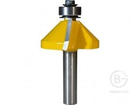 Фреза Энкор кромочная конусная (34.9х16 мм; 45°; хвостовик 8 мм) по дереву 9238 кромочная конусная (34.9х16 мм; 45°; хвостовик 8 мм) по дереву 9238
