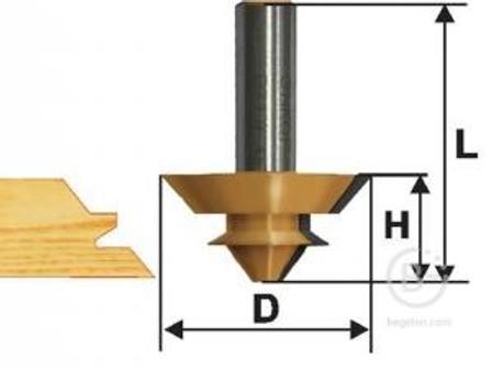 Фреза Энкор комбинированная универсальная (44.5х21 мм; хвостовик 12 мм) по дереву 10611 комбинированная универсальная (44.5х21 мм; хвостовик 12 мм) по дереву 10611