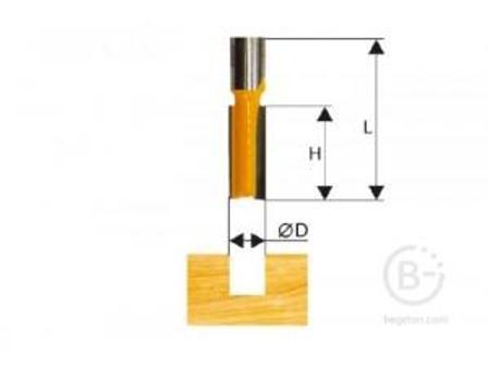 Фреза Энкор пазовая прямая (24х57 мм; хвостовик 8 мм) по дереву 46020 пазовая прямая (24х57 мм; хвостовик 8 мм) по дереву 46020