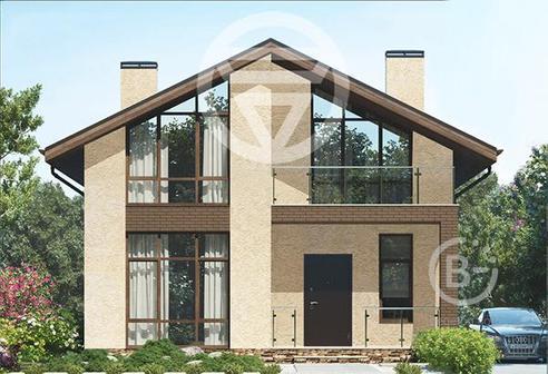 Проект двухэтажного дома с общей площадью на 156 м2