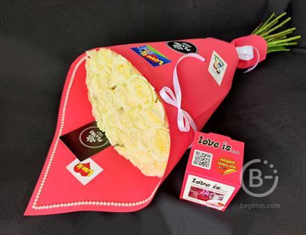 Стильные букеты из роз love is...