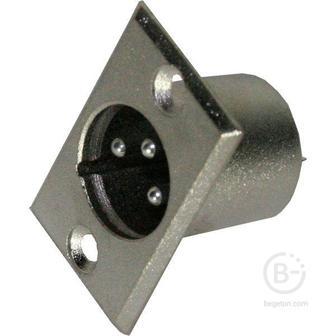 INVOTONE XLR3MB - Разъем XLR 3P, папа, блочный, корпус металл
