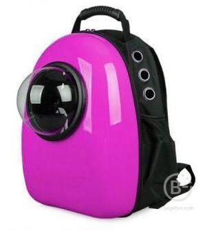 Рюкзак для переноски кошки с окном для обзора, 32х25х42 см розовый